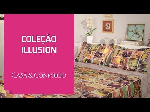 Jogos de Cama Coleção Illusion Casa & Conforto   Shoptime