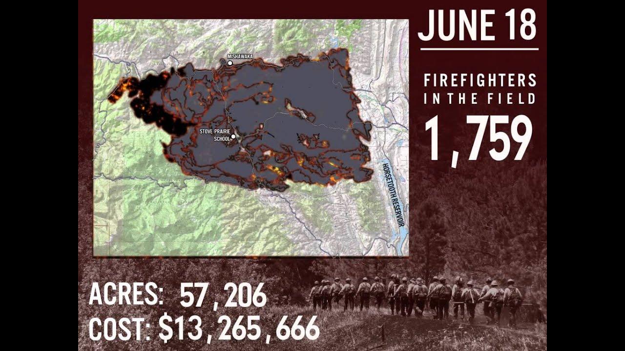 High Park Fire Map.High Park Fire Progression Map Youtube