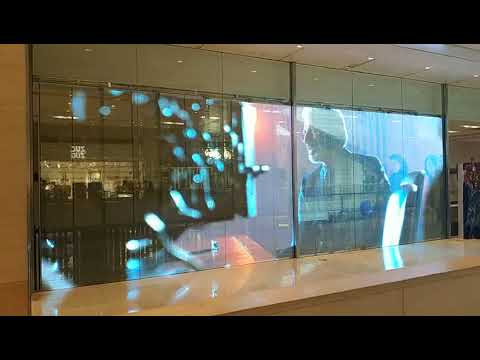 Tiege P6 Adhesive LED film screen for World Trade Center in Beijing