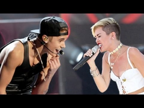 Justin Bieber Vs. Miley Cyrus Dance Battle -- Concert Performances