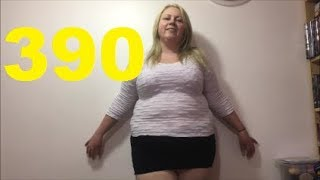 ADELESEXYUK TRYING ON A SEE THROUGH JUMPER