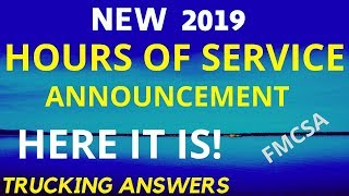 FMCSA HOS Changes ANNOUNCEMENT 2019 | FINALLY! | Trucking Answers