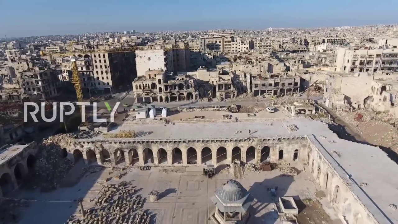 Syria: Drone footage captures Chechnya-funded restoration work at Aleppo's  Great Mosque