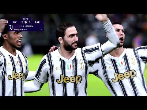 C.Ronaldo vs L.Messi |Juventus vs Barcelona | Friendly Match | PES 2021 | Gameplay |