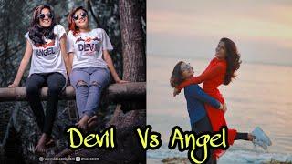 Angel roshna 🔥+Devil kunju😍🔥😍🔥 Tik Tok videos Angel roshna Devil kunju