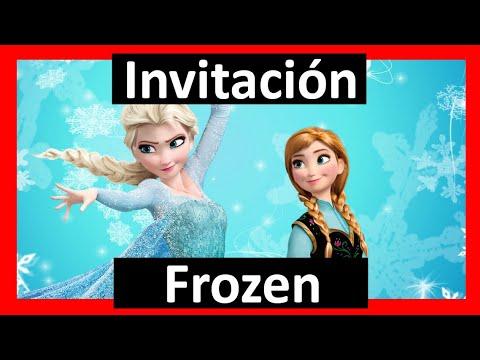 Video Invitación Frozen Whatsapp Digital