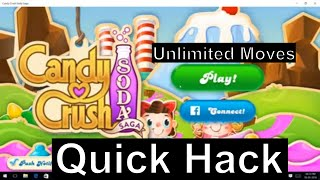 Candy Crush Soda Saga PC Hack / Cheat / Unlimited Moves - Windows 10