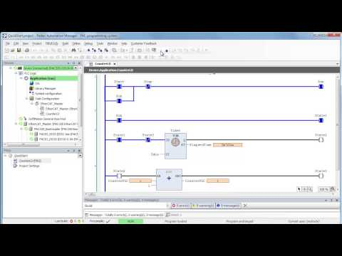 Sample PLC Program Ladder Logic LD: time based counter - YouTube