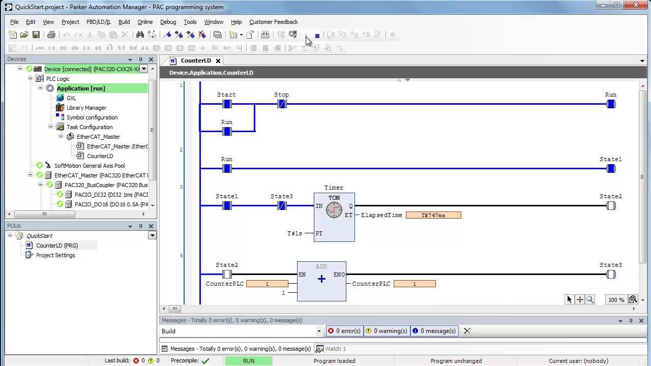 sample plc program ladder logic ld time based counter [ 1280 x 720 Pixel ]
