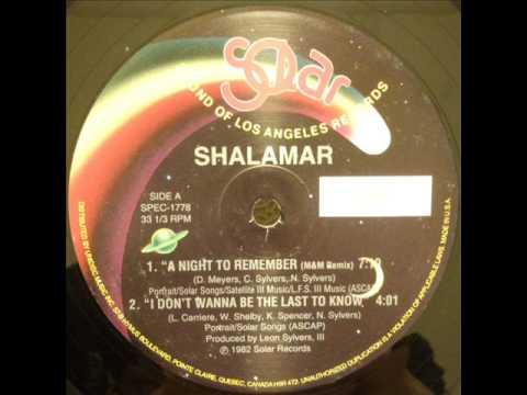 Shalamar - A Night To Remember (M&M Remix)