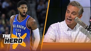 Colin Cowherd on why Paul George is the key for Lakers landing LeBron and Kawhi | NBA | THE HERD