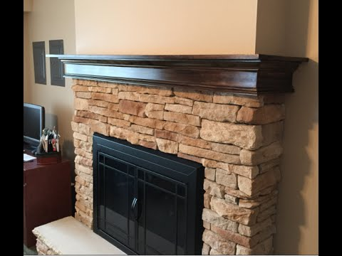 Build A Fireplace Mantel Youtube