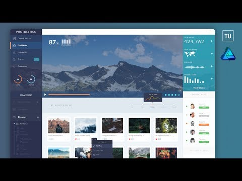 PhotoLytics Dashboard UI Web design using affinity designer