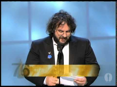 "Peter Jackson winning an Oscar® for ""The Lord of the Rings: The Return of the King"""