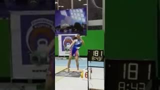 Ольга Яременко, рывок 24 кг-209 раз / Snatch Yaremenko 209 reps