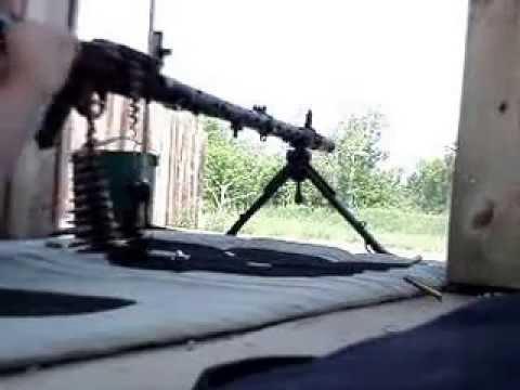 Стрельба из пулемета MG34