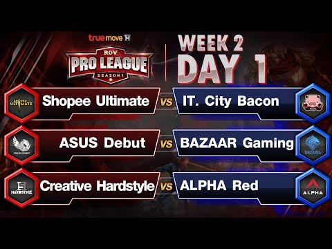 [Edit Lag] RoV Pro League Presented by TrueMove H : Week 2 Day 1