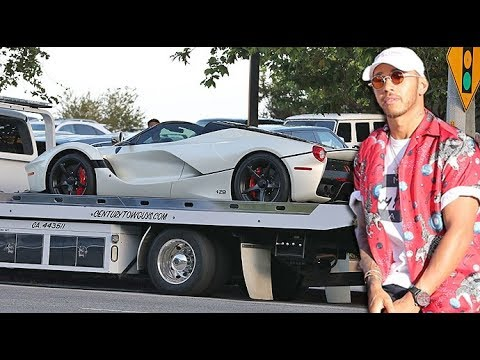 EXCLUSIVE - Lewis Hamilton's $10 MILLON LaFerrari Aperta Breaks Down At Nobu Malibu, Gets Towed!