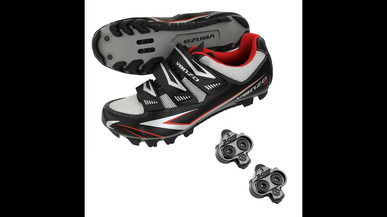 Pedals /& Cleats Venzo Mountain Bike Bicycle Cycling Shimano SPD Shoes