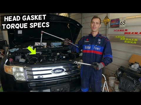 HEAD GASKET TORQUE SPECS AND SEQUENCE FORD EDGE FLEX TAURUS FUSION, LINCOLN MKX MKZ MKS MKT 3.5 3.7