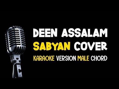 SABYAN - DEEN ASSALAM (Karaoke Low Key Version/Chord Pria) Lirik Tanpa Vokal
