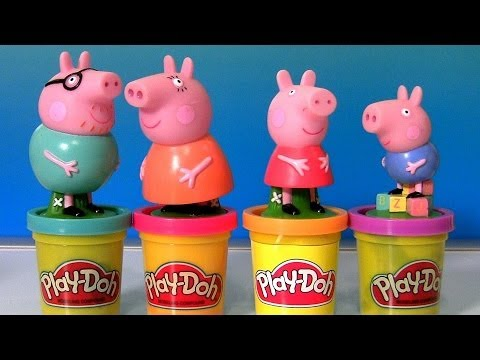 Play Doh Peppa Pig Stamper Play Dough Mummy Pig Stamp Using Talking Peppa Pig Car Travel Video