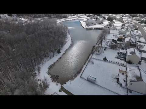 Aerial View of Snow-Blanketed Bear, Delaware
