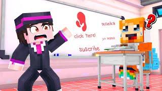 I Took Socksfor1 to School in Minecraft