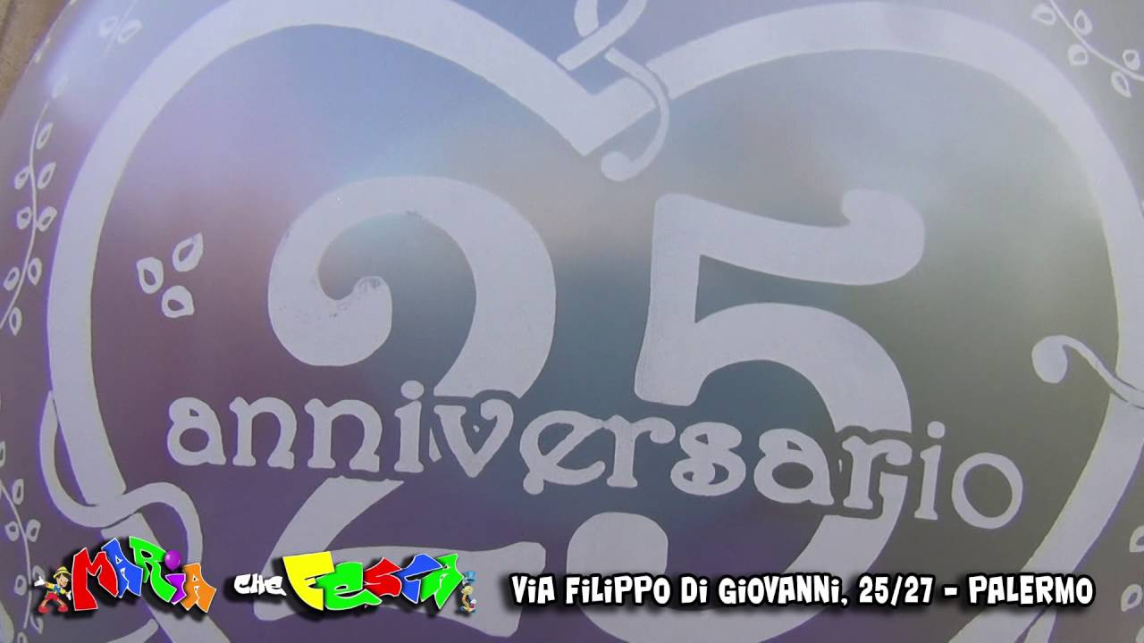 Xxv Anniversario Di Matrimonio.Mongolfiera 25 Anniversario Di Matrimonio Maria Che Festa