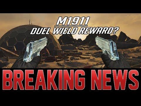 M1911 DUAL WIELD REWARD TO BE ADDED IN BO3 ZOMBIES LEAK!  E3 ZOMBIES INFO!