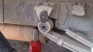ГАЗЕЛЬ Меняем рессорный сайлентблок на месте Как поменять втулки рессор