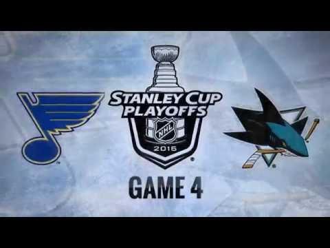 St. Louis Blues vs San Jose Sharks. Game #4. PlayOffs NHL 2016