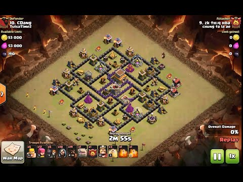 3 Star Attack On Popular Th8 Internet Base Using GoHoWiPe - Clash Of Clans