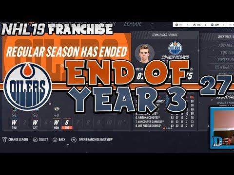 FINISHING YEAR 3! 50 WIN CLUB! NHL 19 Edmonton Oilers Franchise Mode Episode 27