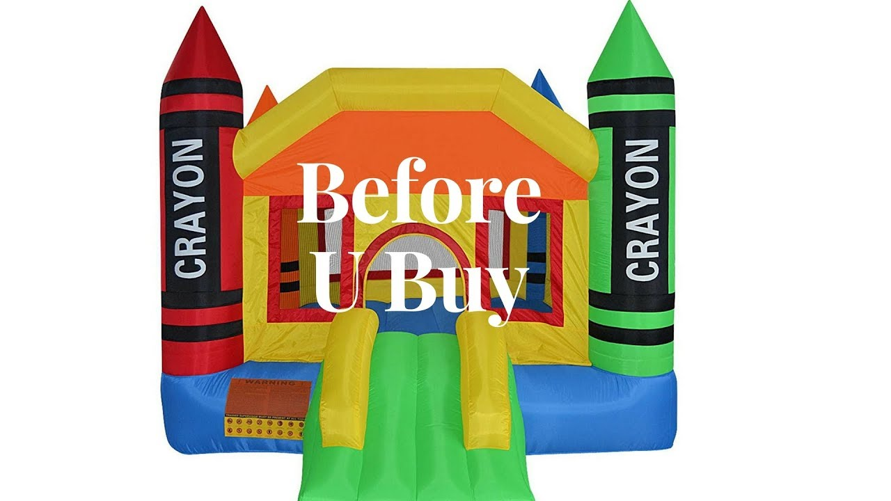 Cloud 9 Mini Crayon Bounce House Inflatable Bouncing Jumper With