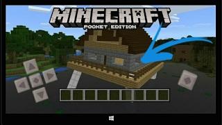 Como Ter Uma Casa Que Anda No Minecraft Pocket Edition 1.1 !!!