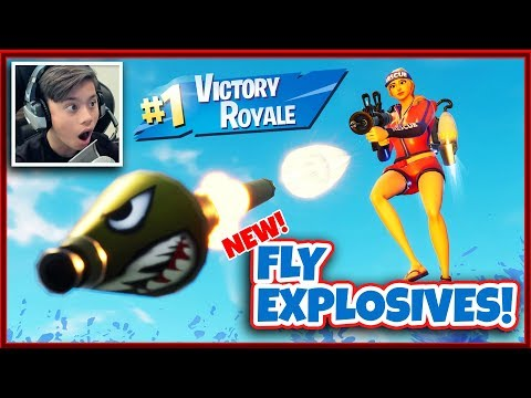 FORTNITE NEW GAME MODE - FLY EXPLOSIVES!!! Victory Royale!  I Am a Pro! thumbnail