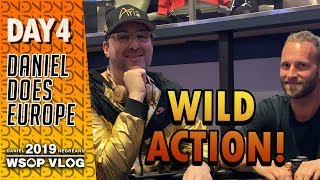 Wild PLO Action with Hellmuth and Isildur! - WSOPE Day 4