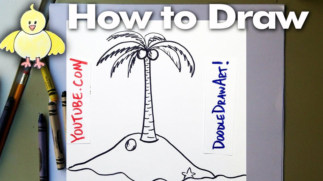 Drawing How To Draw Cartoon Palm Tree