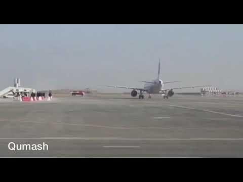 Первый самолет приземлился в новеньком аэропорту Туркестана.