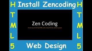 HTML-5 Shortcut | How to Install  Zen Coding on Notepad++