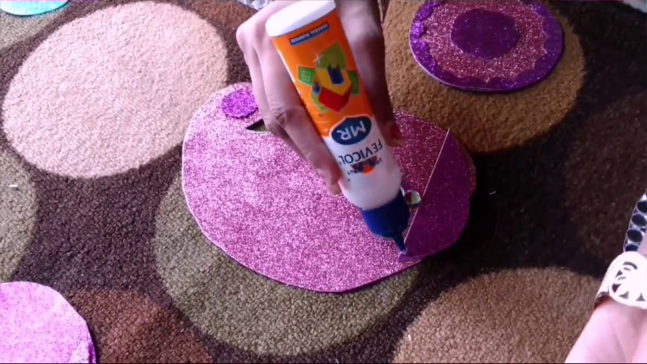 Easy rangoli making idea for diwali decoration craftlas youtube Home made decoration items for diwali