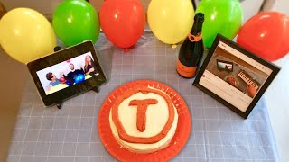 Congratulations but it 39 s played on the T Series cake