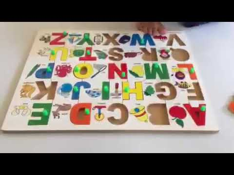 LEARNING EDUCATIONAL ALPHABET WOODEN TOY SET