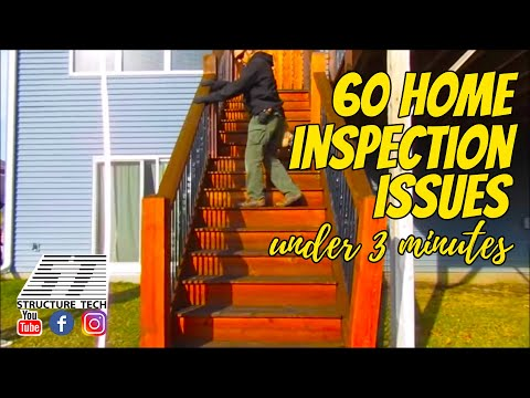 60 Home Inspection Issues in 3 minutes