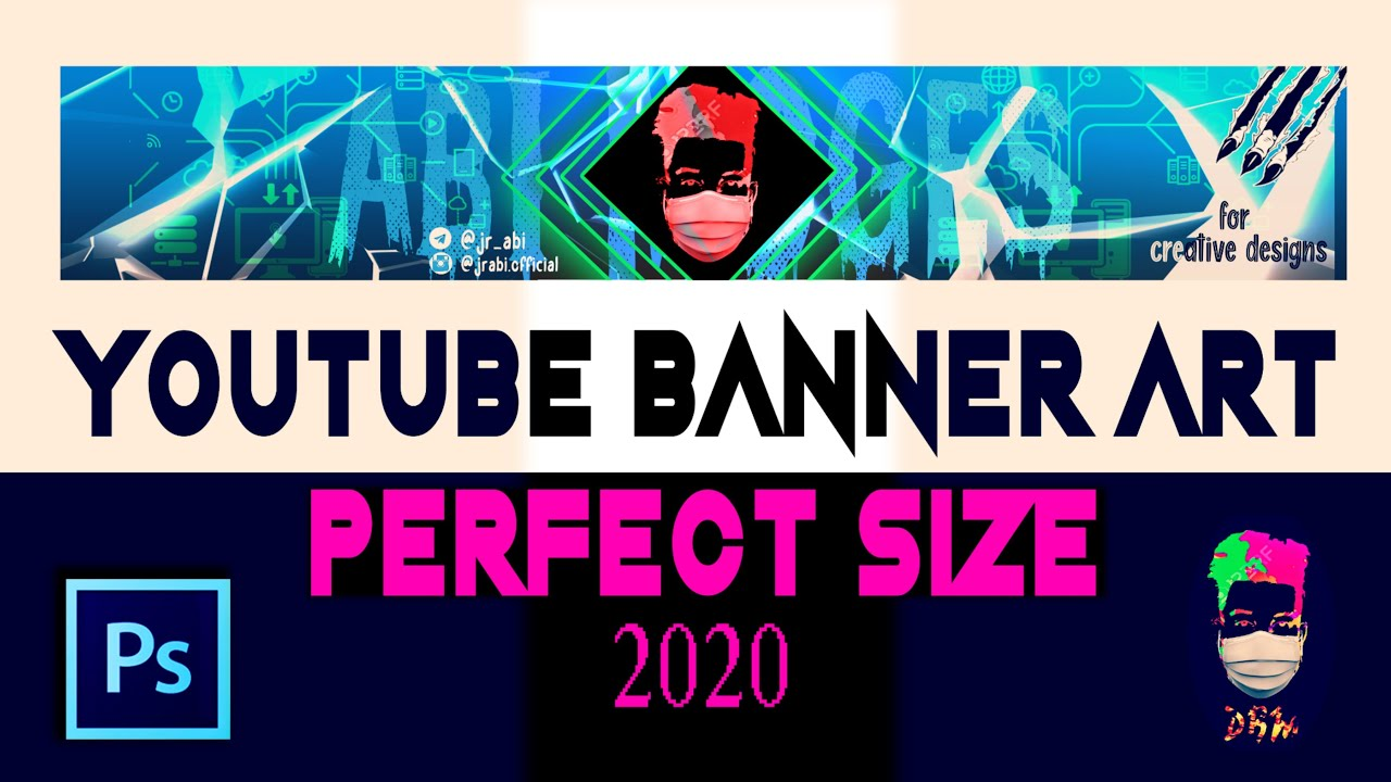 256 x 256 pixels minimum. How To Make A Youtube Channel Art Banner Perfect Size 2020 Youtube
