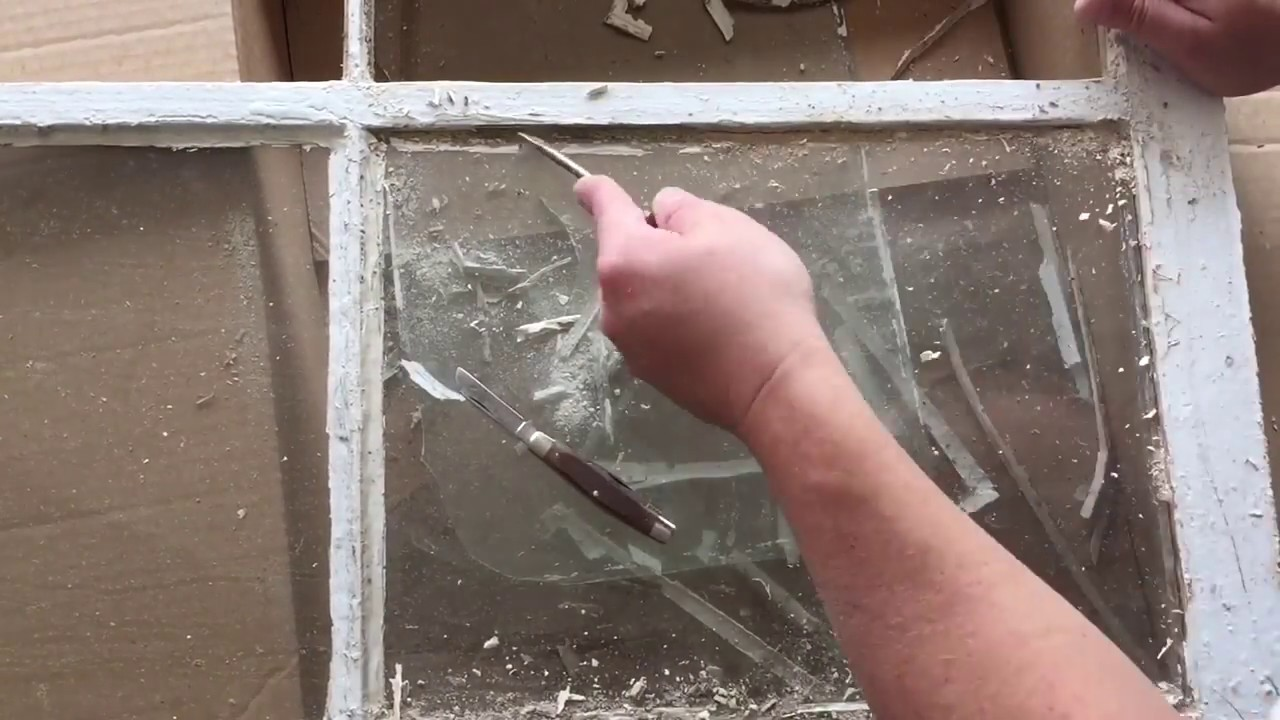 Removing Glass From An Old Window Youtube