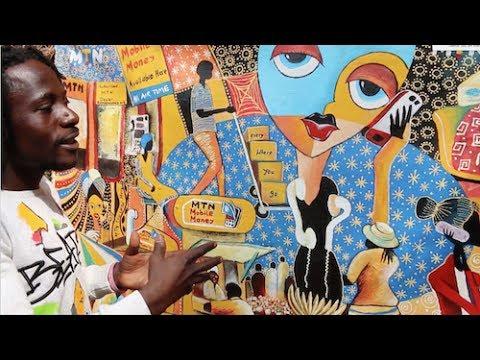 Emma Kavuma's Painting Glorifies MTN-Uganda