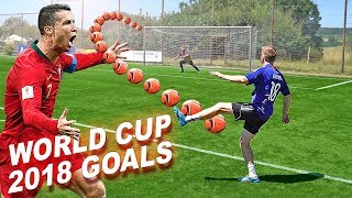 The World Cup 2018 Best Goals Challenge - CR7, Coutinho, Kroos & Pavard