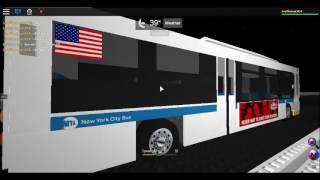 (ROBLOX) MTA NYCT Bus: 2003 Orion VII CNG #7593 Auf der Bx35 mit 2016 Novabus LFS #8398 On the Bx3